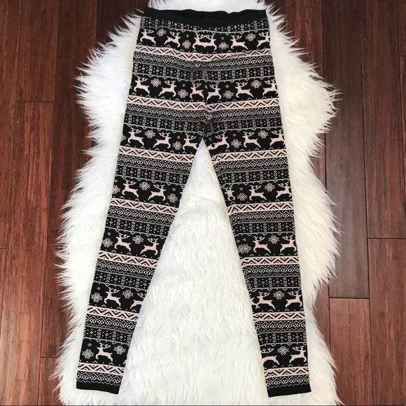 40% off Forever 21 Pants - F21 Fair Isle Reindeer Thick Sweater ...
